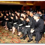 Students during ceremony
